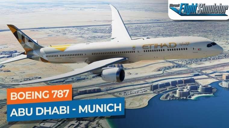 [MSFS] Abu Dhabi à Munich – Boeing 787-10 Etihad | Drawyah