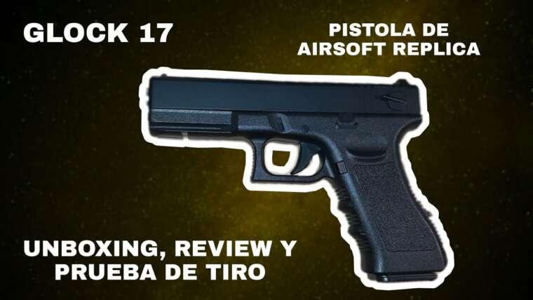Déballage, examen et tir d'essai en espagnol de la réplique du pistolet airsoft Glock 17