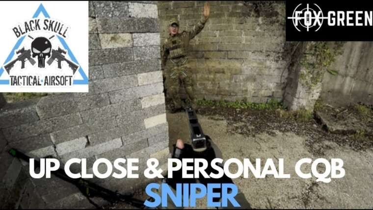 Sniper Airsoft de près et personnel – Airsoft tactique crâne noir