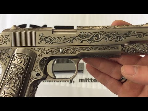 Wei-ETech M1911 Version gravée Mehico Druglord Review / Test 6mm BB Airsoft