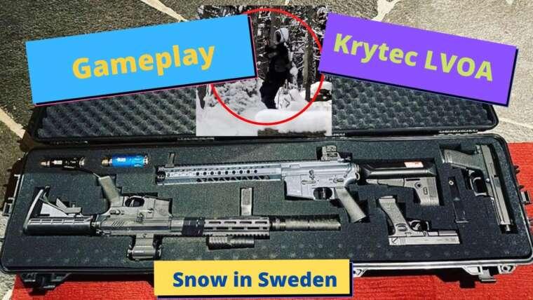 Détruire une équipe ennemie avec mon gameplay Krytec LVOA S dans Snowy Sweden.