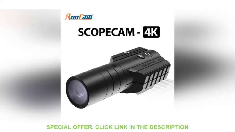 ⚡️ RunCam Scope Cam 4K Airsoft 1080P120fps Enregistrement Ultra HD WiFi intégré 850mAh ScopeCam Review