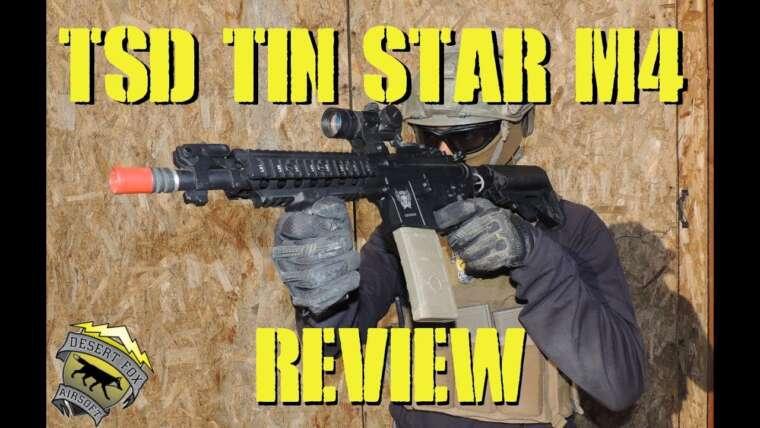 DesertFox Airsoft: TSD Tin Star M4 Review avec Game Play