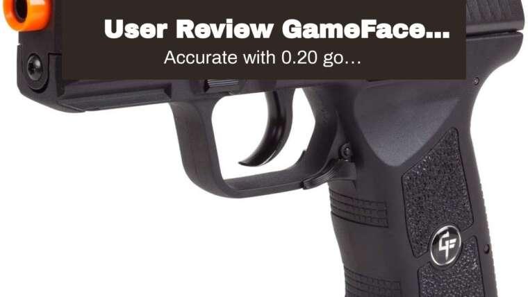 Revue de l'utilisateur GameFace GFAP13 AEG Pistolet Airsoft électrique complet / semi-automatique avec chargeur de batterie …