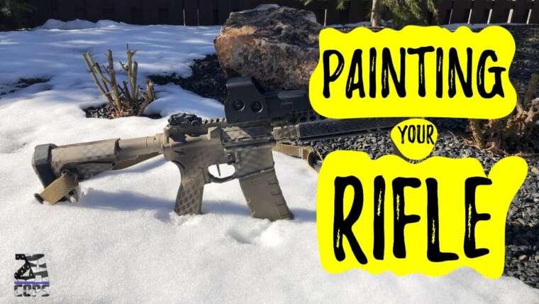 Peinture à la bombe sur un fusil: conseils d'un tireur d'élite