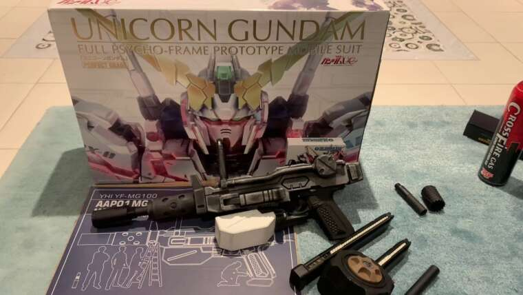 AAP01 MG100 Gundam Machine Gun (2021) Examen et test de tir, en vaut-il la peine?  Économisez de l'airsoft dans 🇨🇦