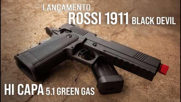 💢 Revue: Pistola de airsoft Rossi 1911 Black Devil Hi Capa 5.1 Green Gas 💢
