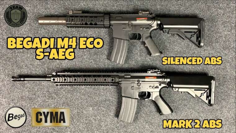 """[REVIEW] BEGADI M4 ECO """"Marque 2"""" & """"ABS silencieux"""", 6mm Airsoft Low Budget Airsoft avec CORE EFCS"""