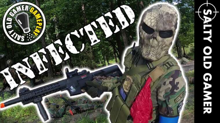 INFECTÉ!  Mode Zombie Airsoft |  Gameplay de SaltyOldGamer Airsoft