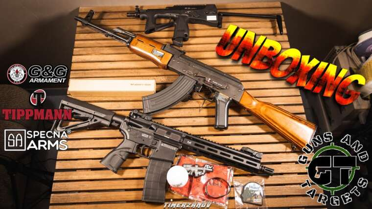 ENCORE DES RÉPLIQUES ! UNBOXING AIRSOFT (GUNS AND TARGETS)