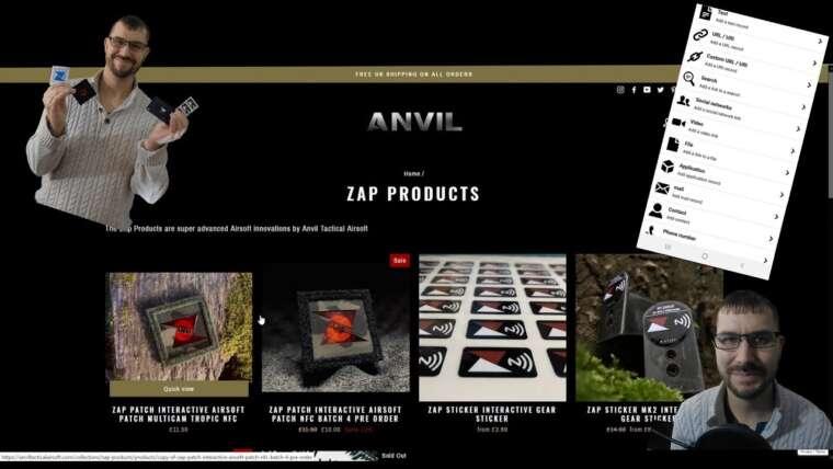 Examen du patch, de l'autocollant et de la carte d'Anvil Tactical Airsoft Zap!  NOUVEAUX PRODUITS AIRSOFT INNOVANTS