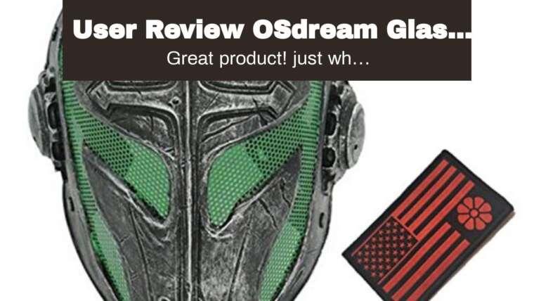 Examen de l'utilisateur Masque de protection en fibre de verre OSdream + résine pour écran Airsoft Paintball / CS Pr …