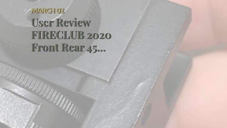 Avis de l'utilisateur FIRECLUB 2020 avant arrière 45 degrés hors jeu réglable Transition Iron Sight