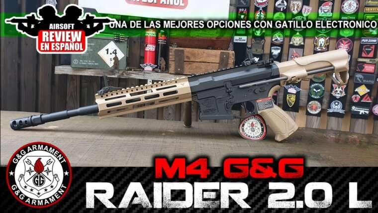 G&G RAIDER 2.0 L (Review & Test Shot) – Recommandé pour les débutants    Revue Airsoft en espagnol