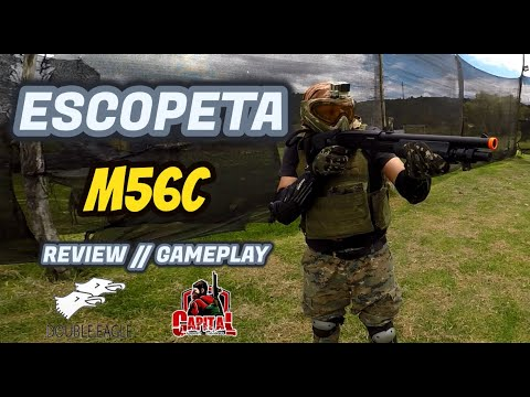 Escopeta Airsoft // 🔫 M56C DOBLE EAGLE 🔫 // Gameplay – Critique