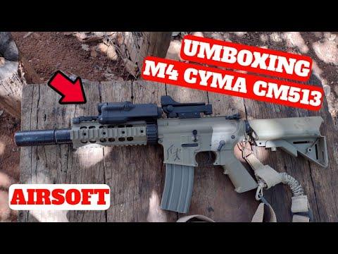 UMBOXING E REVIEW M4A1 CYMA CM513 TAN AEG |  AIRSOFT ZAQUI