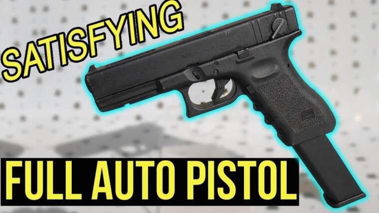 Pistolet FULL AUTO satisfaisant |  Elite Force Glock 18C directement sorti de la boîte
