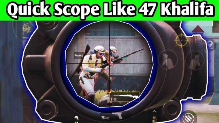 Quick Scope Practice Salle TDM PUBG • Gameplay Quick Scope M24