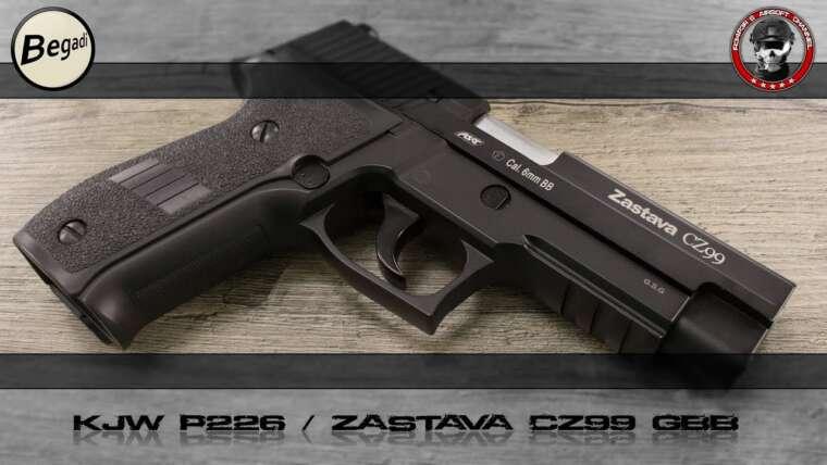 [Review] KJW P226 / Drapeau CZ99 (KJWorks) GBB 6mm Airsoft Deutsch / Allemand