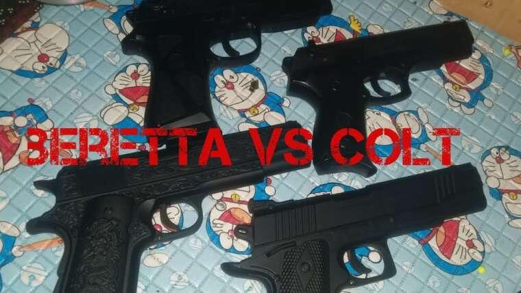 Examen de la mise à niveau versi du printemps Airsoft Power    Colt Black Mamba contre Beretta Pietro / MP900
