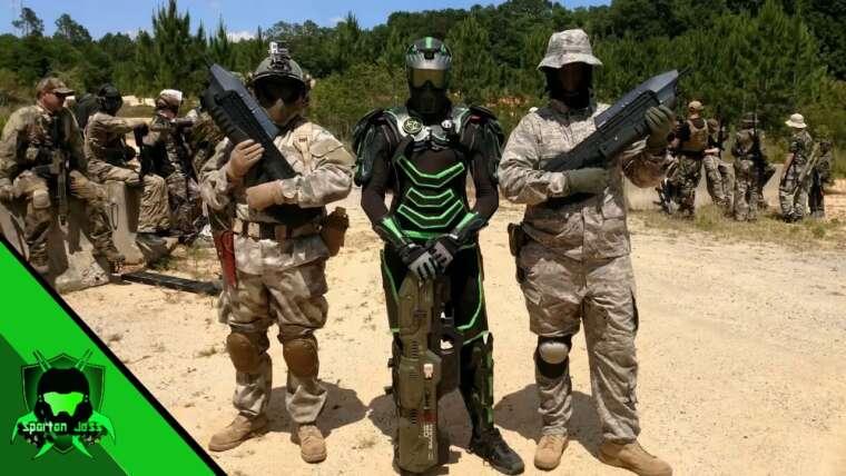Gameplay laser Spartan intense – Se faire dépasser – Halo Airsoft At B3, Pensacola FL