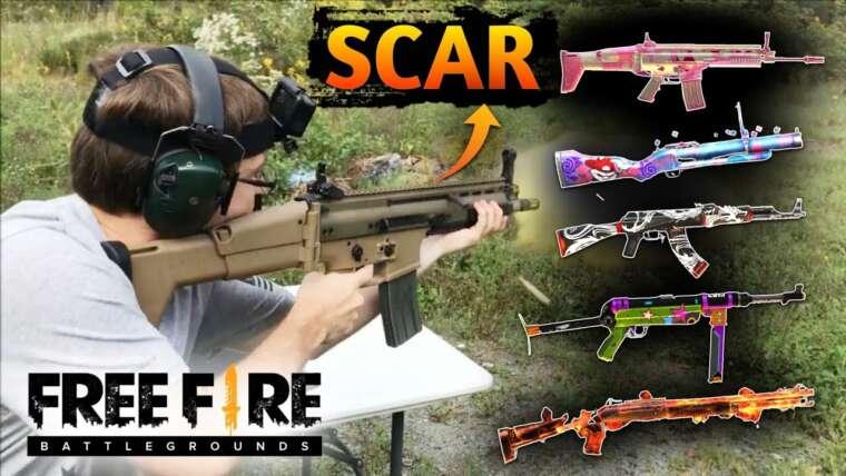 Armes de feu gratuites dans la vraie vie Hindi     Free Fire Gun dans la vidéo de la vraie vie     Oll Gun Freefire