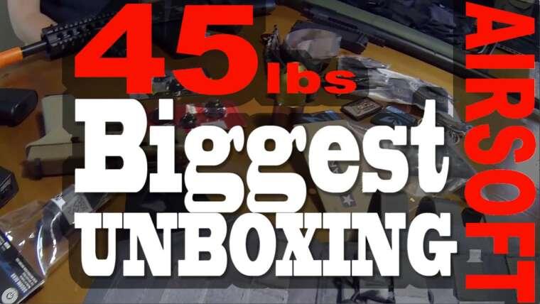 45 livres de plus grande vidéo de UNboxing Airsoft jamais!  Revue / Giveaway!  – Echo1USA – JAG Precision