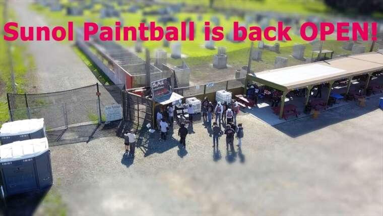 Premier week-end de Paintball en 2021 au Sunol Paintball Park;  Gtek160R et Gtek160