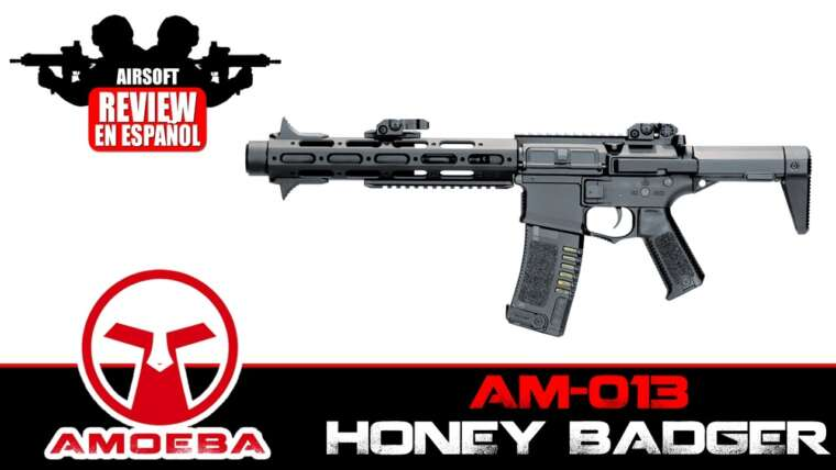 AMOEBA AM-013 HONEY BADGER Revue Airsoft en Español (TEST SHOT & CRONO)