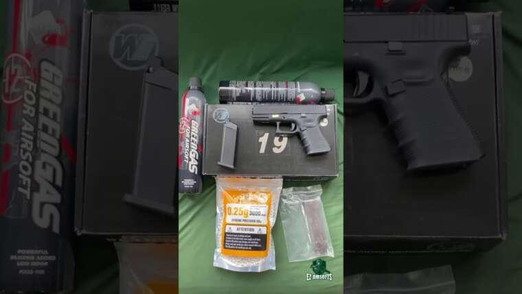 Test du WE Glock19 gen4 noir