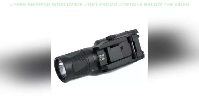 ☘️ REVUE CQC Tactical Airsoft X400V LED Lampe de poche à sortie blanche et IR avec pistolet Laser rouge Hun