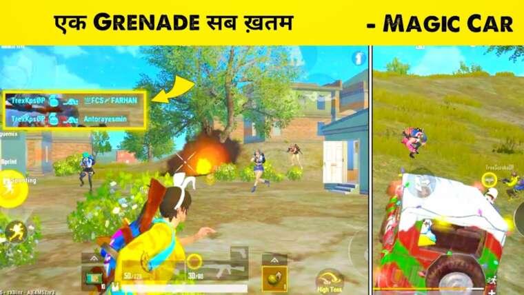 Meilleure grenade de tous les temps à Pubg Lite ||  Lion x Gaming dans mon match |  Gameplay de Pubg Mobile Lite |  Jeux Kps