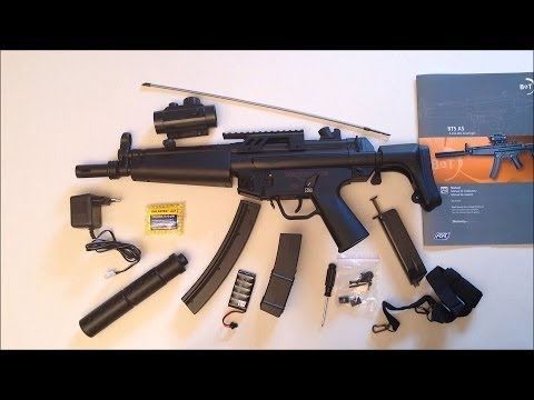Revue du pistolet / fusil Airsoft MP5 / BT5 A5, allemand, HD, 1080p