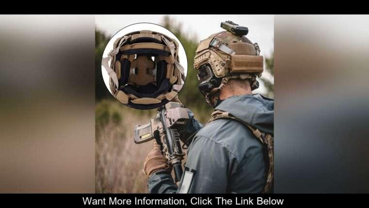 Évaluer Coussin de protection de casque de paintball Airsoft universel pour casque FMA tactique en mousse à mémoire de forme P