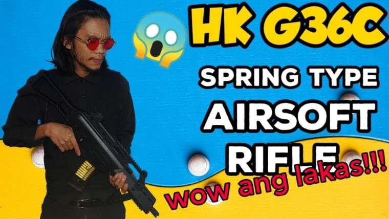 Fusil d'assaut Airsoft à ressort HK G36C (REVUE par UNBOXING SIMULATOR)