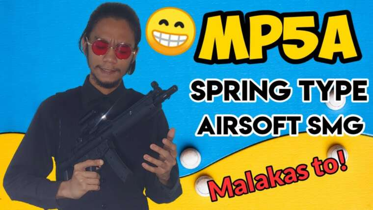 MP5A Spring Type Airsoft SMG (REVUE par UNBOXING SIMULATOR)