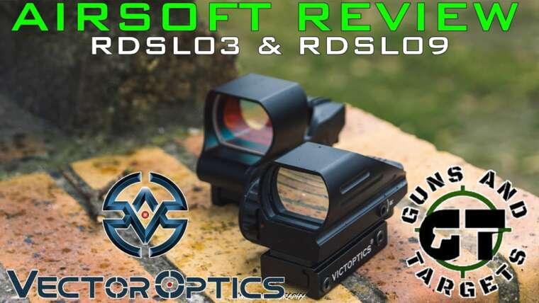 Airsoft Review # 50 Red Dot Vector Optics (RDSL09 & RDSL03) (PISTOLETS ET CIBLES)