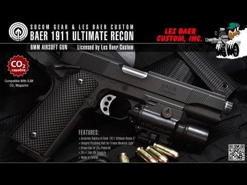 "SOCOM GEAR Les Baer 1911 Ultimate Recon 5"" Aperçu du pistolet GBB Airsoft!"
