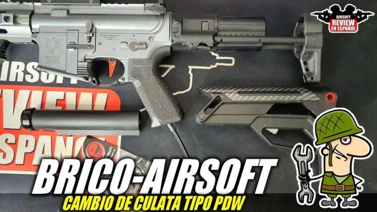 Brico Airsoft 🔧: Changer le stock de type PDW (sur mon VFC Sabre Grey)    Revue Airsoft en espagnol