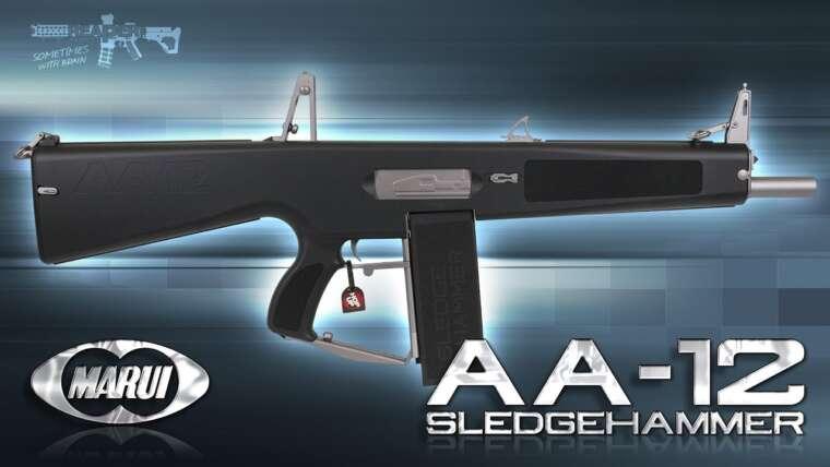 [Review] Tokyo Marui AA-12 Sledgehammer Full-Auto Shotgun TM 6 mm Airsoft / Softair 4K UHD