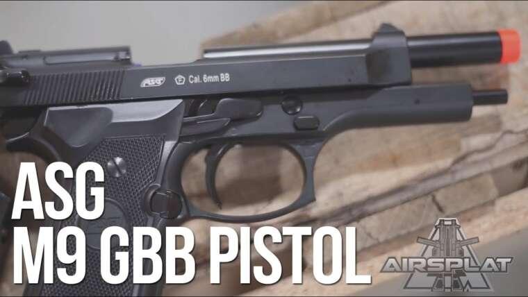 Pistolet Airsoft GBB poids lourd ASG M9 – AirSplat à la demande