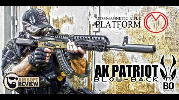 AK PATRIOT BLOW-BACK # BO DYNAMICS # BO MANUFACTURE / AIRSOFT REVIEW (ENG SUB)