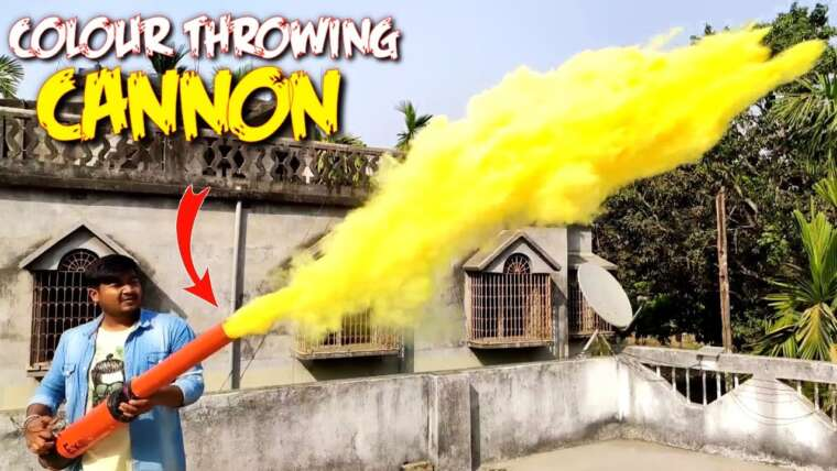 Faire un puissant canon à lancer automatique de couleur |  Spécial Holi 😉