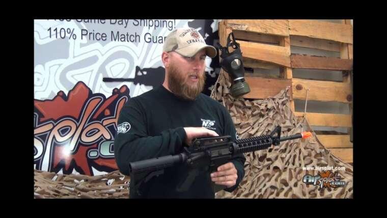 Airsplat OD – Carabine QR King Arms Colt M4 RIS Airsoft GBB