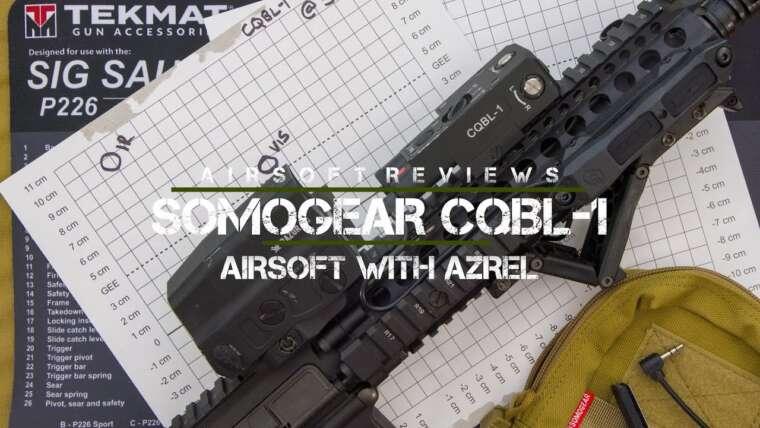 Viseur Laser Rouge Somogear CQBL-1 avec IR – Airsoft avec Azrel