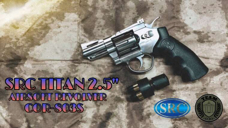 [REVIEW] SRC TITAN 2.5 Zoll Airsoft CO₂ Revolver, .357 Magnunm Airsoft Backup, 6mm BB Airsoft Test