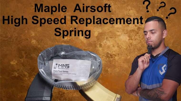 Revue du printemps du chargeur de remplacement haute vitesse Maple Airsoft
