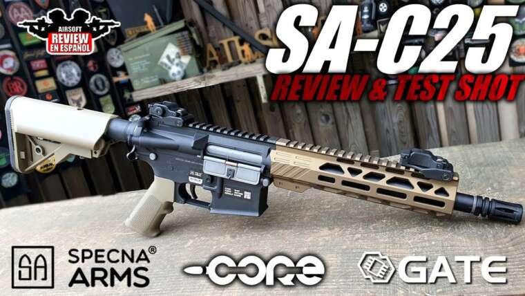 Specna Arms Core SA-C25 Gate – Quoi de neuf avec le EDGE?  |  Revue Airsoft en espagnol