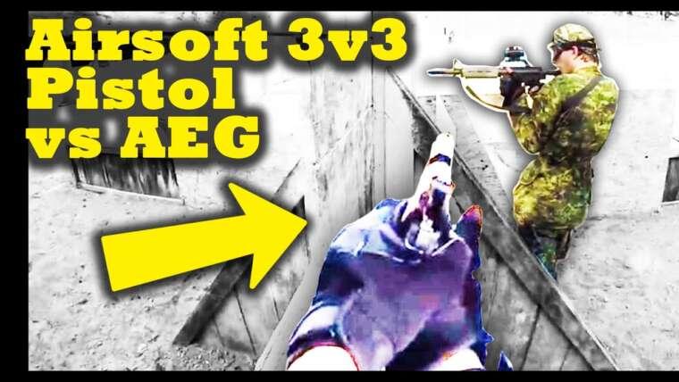 Pistolet de guerre 3v3 Airsoft vs AEG – Rouleau de combat