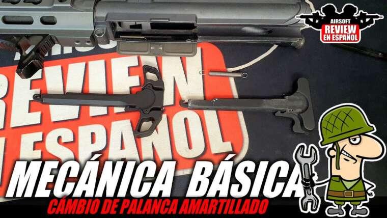 Brico Airsoft 🔧: levier d'armement sur M4 |  Revue Airsoft en espagnol